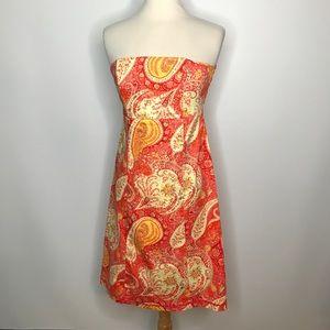 Moda International Strapless Dress Sz 10 Open Back